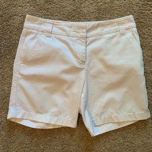 🇺🇸J. Crew Classic Twill White Shorts